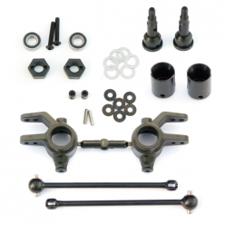 Tekno M6 Driveshafts and Steering Blocks for Slash 4x4