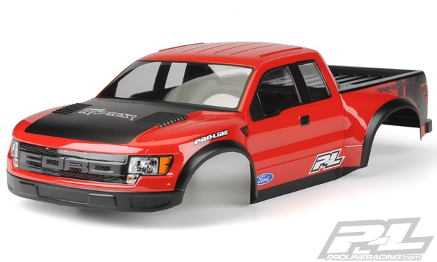 Pre-Painted / Pre-Cut True Scale Ford F-150  Raptor SVT Body (RED)