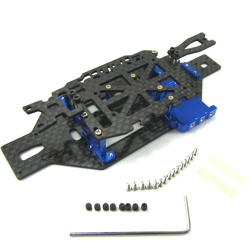 Hot Racing Graphite & Aluminum LCG Chassis for Losi Micro Rally, Truggy, SCT 4WD