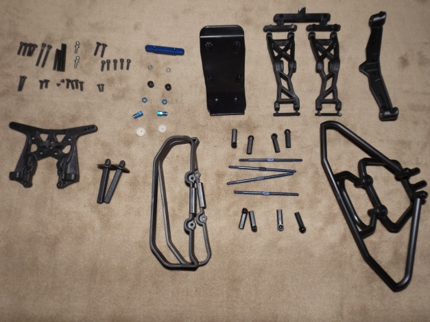 All of the parts in Bag C, nicely organized.