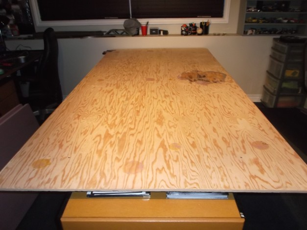 A blank slate. A 4x8 sheet of plywood on a table top.