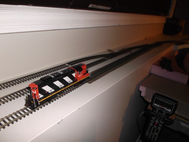 I wanted a better functioning rail Yard which meant using the ledge under a window.