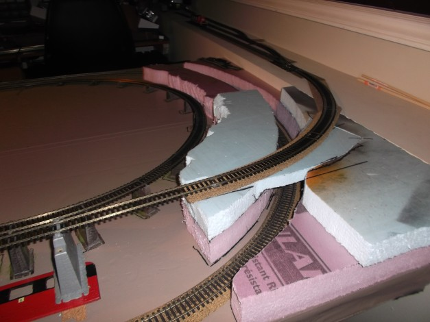 This change will bring the track over what will eventually be a tunnel.
